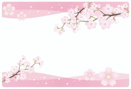 櫻花粉紅色的框架