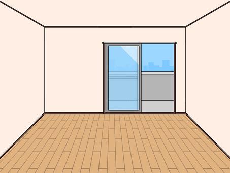 房間(地板/西式房間)紗門開著