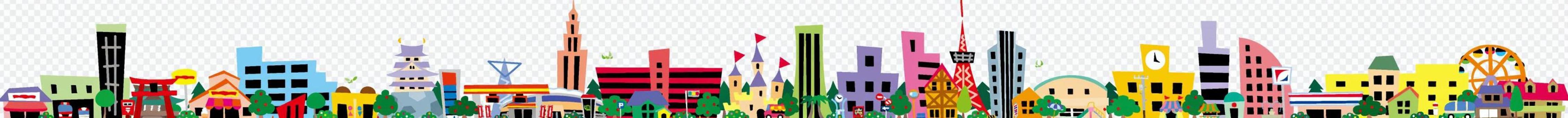 多彩而生動的城市景觀框架