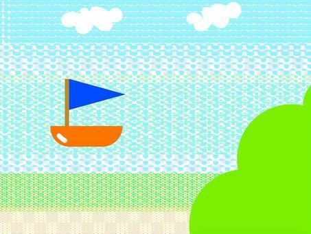 大海和遊艇壁紙