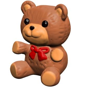 Stuffed bear diagonally sideways