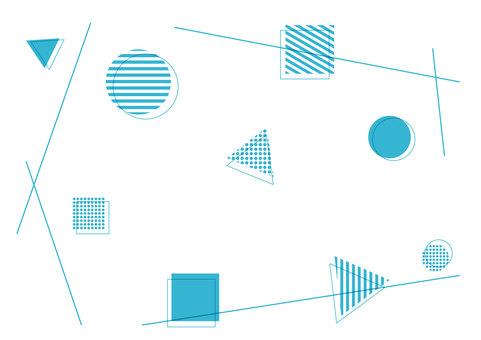 幾何圖案簡單壁紙 background_blue