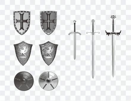 中世の盾と剣