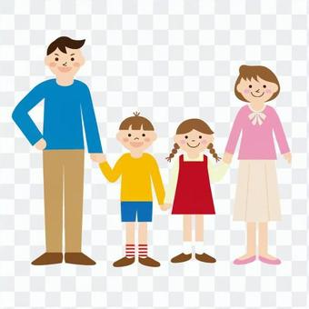 Family of four people