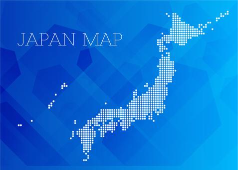 日本地圖矢量數據素材