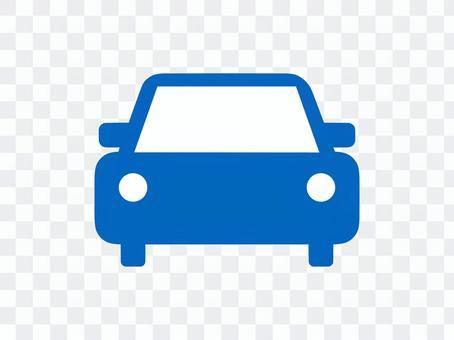 汽車車輛剪影藍色