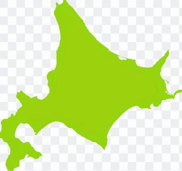 北海道_剪影_黃綠色