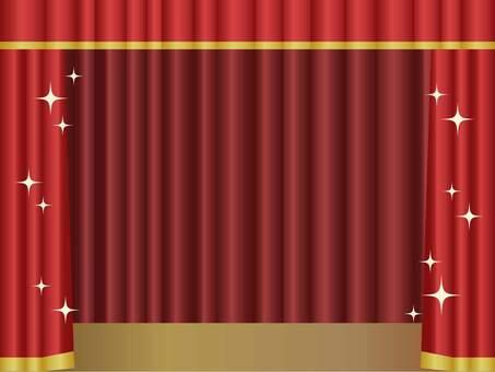 閃閃發光的舞台架