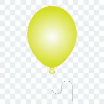 黃色氣球的插圖