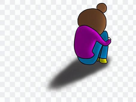 Despair gymnastic sitting