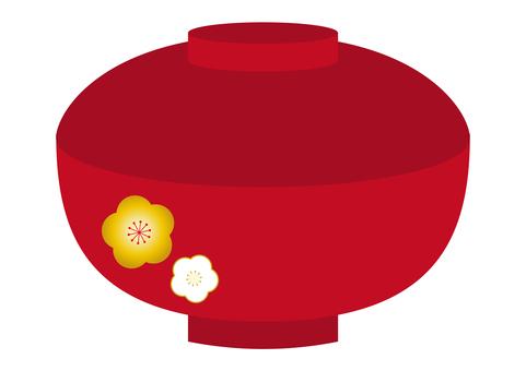 插圖6幅(帶蓋碗,梅花圖案)