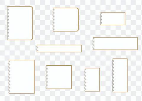 Ring note material set (no ruler)