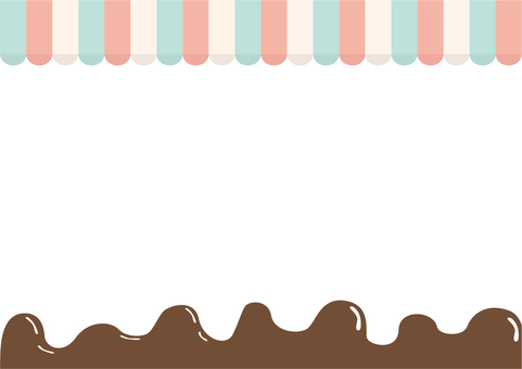 Striped roof chocolate frame