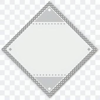 タイトルバック菱形01 グレー
