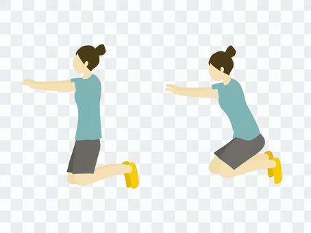 站立式膝蓋蹲
