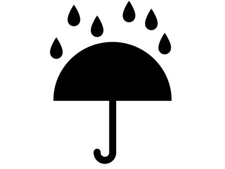 雨和傘圖標 A:單色