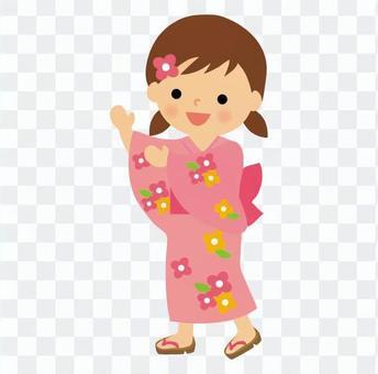 盂蘭盆舞的女孩