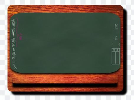 3密注意喚起黒板