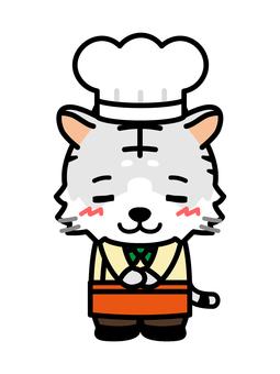 白虎廚師鞠躬