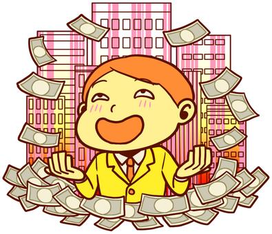 暴漲的金錢和歡欣的人們