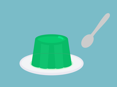 Simple and cute jelly illustration
