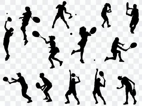Tennis silhouette_set 2