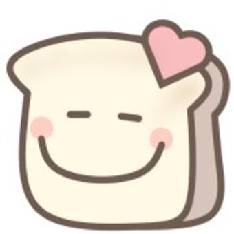 顔 スマイル 食パン パン ニコニコ