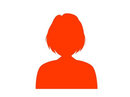 Shortcut female illustration icon