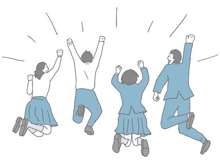 跳回來的初中生和高中生