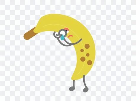 可愛的香蕉性格悲傷