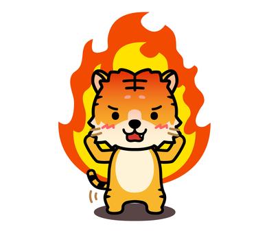 燃燒的老虎