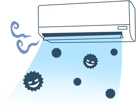 Image illustration of moldy air conditioner