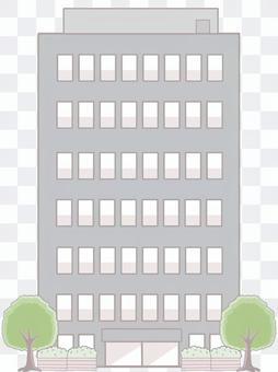 Skyscraper (with trees)