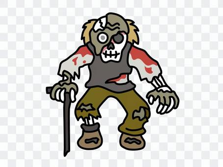 Zombie old man