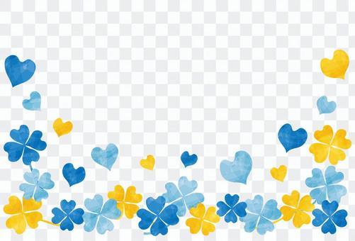 三葉草框架/藍色