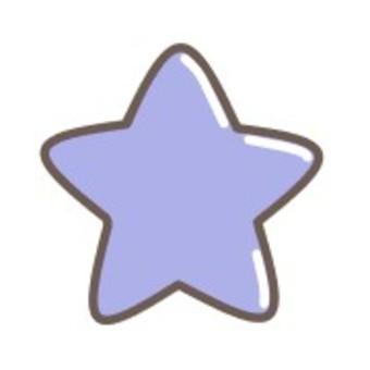 明星簡單藍色蠟筆可愛
