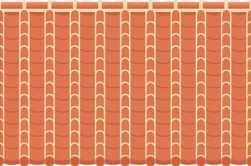 Tile roof red tile Okinawa