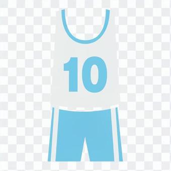 籃球服淺藍色