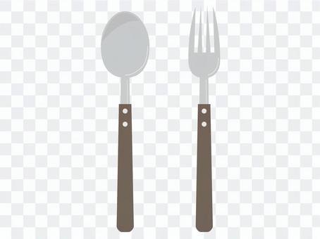 Spoon / fork (wood)