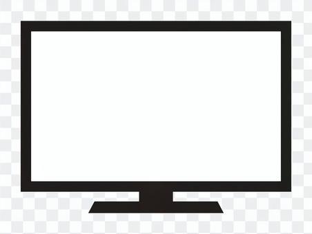 液晶テレビ 白黒アイコン