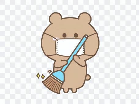 熊/口罩清潔