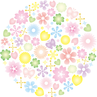 Colorful flower (round)
