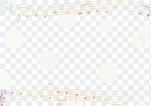 Sheet music and dot frame