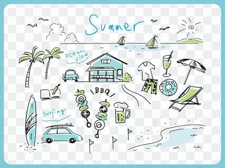210514. Hand drawn, summer 2-4c