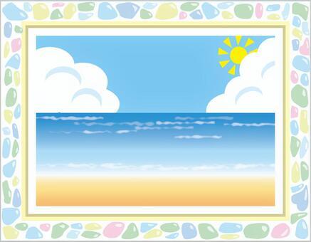 海和圖片框架