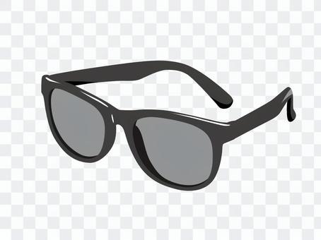 黑色平紋太陽鏡