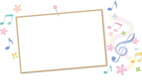 相框和符號和櫻花