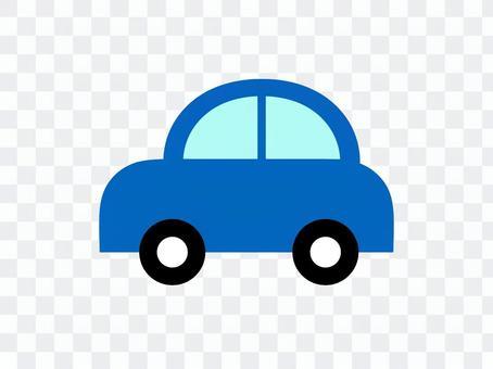 車汽車側藍色