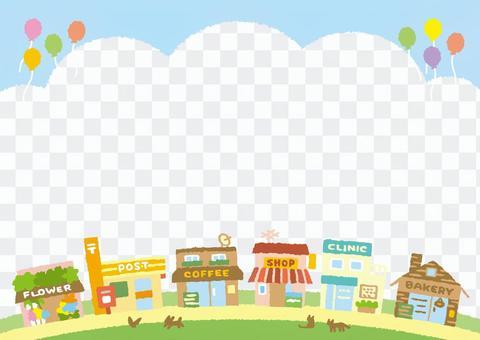 背景(購物街1的城市景觀)