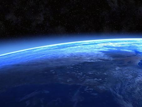 安靜的藍色地球